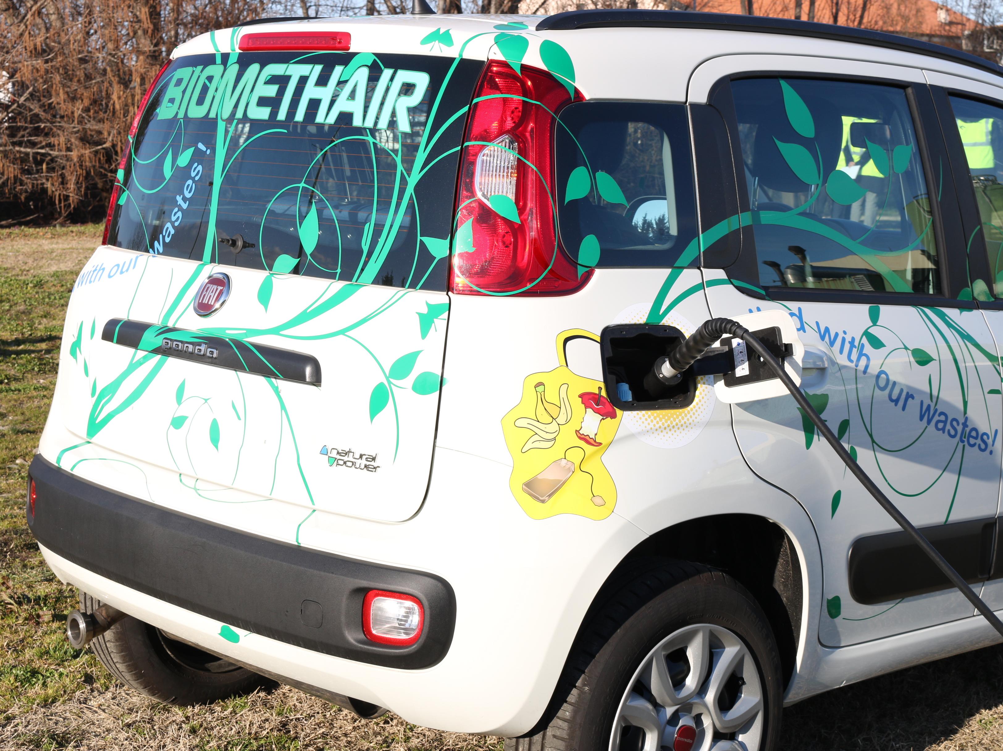 Biomethair: una Fiat Panda alimentata con scarti alimentari