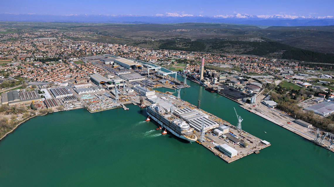 Fincantieri: al via la costruzione di una nuova nave da crociera nello stabilimento di Monfalcone