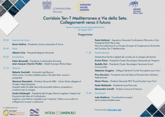 """Cluster Trasporti partecipa alla conferenza """"Corridoio Ten-t Mediterraneo e Vie della Seta – Collegamenti verso il futuro"""""""