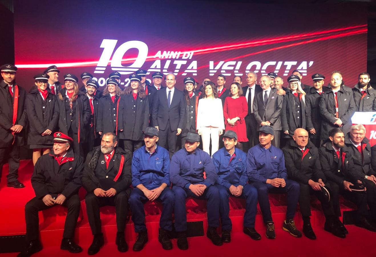 Alta velocità, Gruppo Fs festeggia i 10 anni
