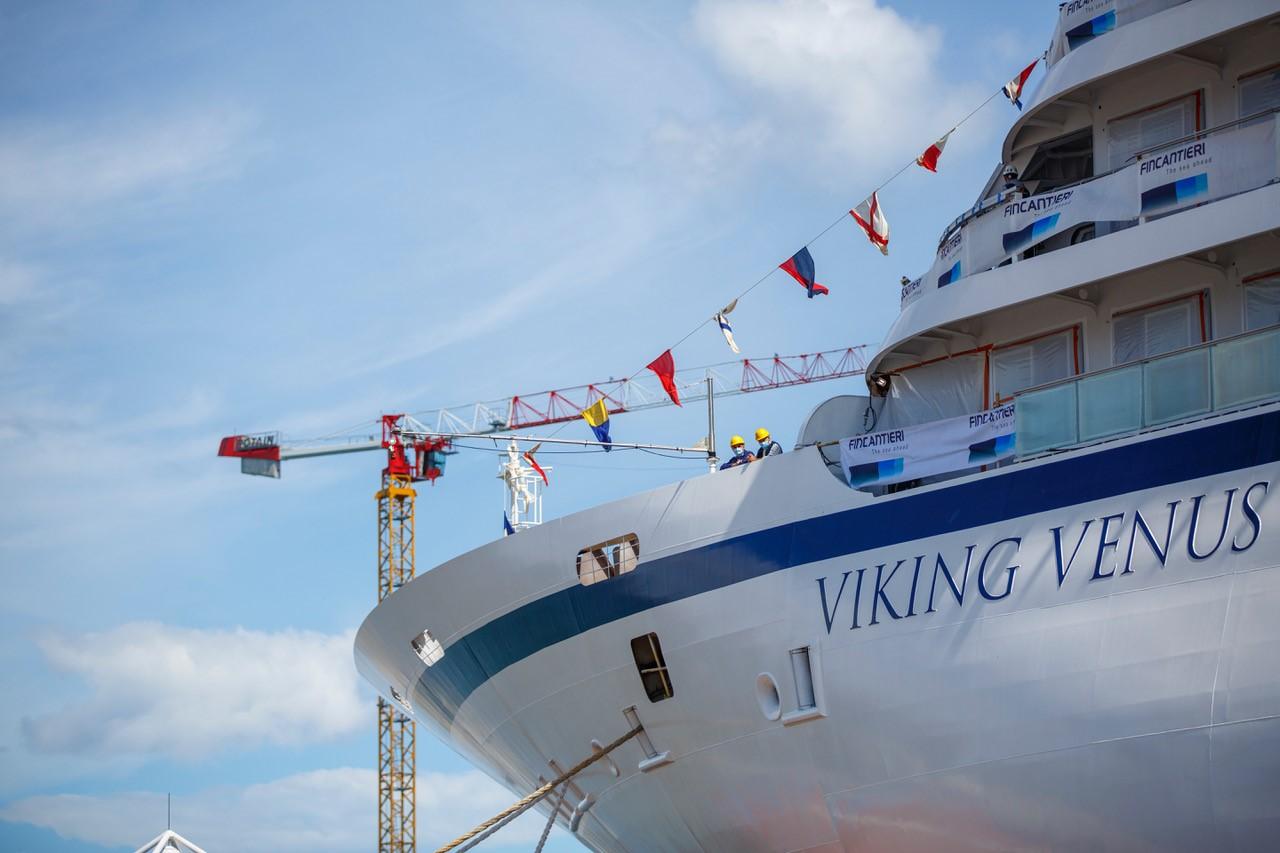 "Fincantieri, varata ad Ancona ""Viking venus"""
