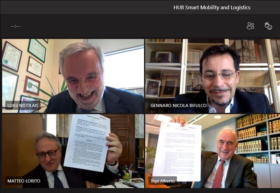 """Mobilità integrata e sostenibile: l'Università Federico II e Almaviva insieme nel nuovo polo """"Smart Mobility and Logistics"""""""