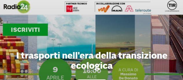 I trasporti nell'era della transizione ecologica: oggi alle 16 appuntamento con la Digital Round Table di Radio 24