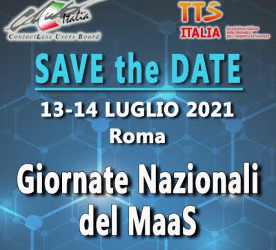 Giornate Nazionali del MaaS: appuntamento a Roma il 13 e 14 luglio 2021